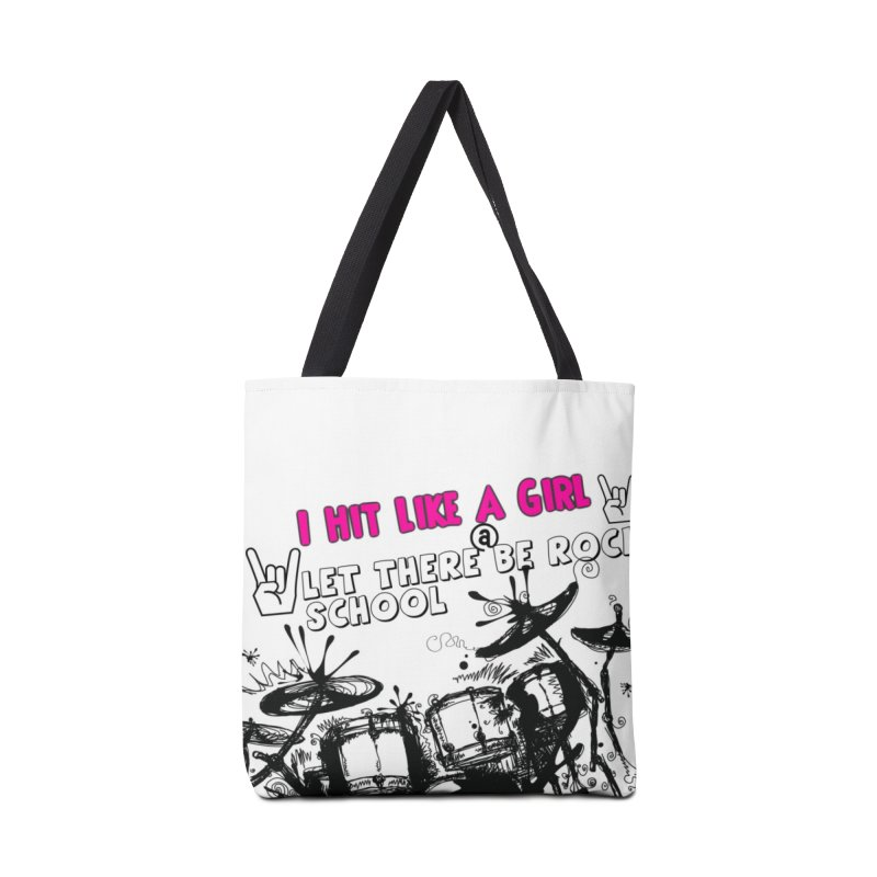 Girl Drummers ROCK! Accessories Tote Bag Bag by LetThereBeRock's Artist Shop