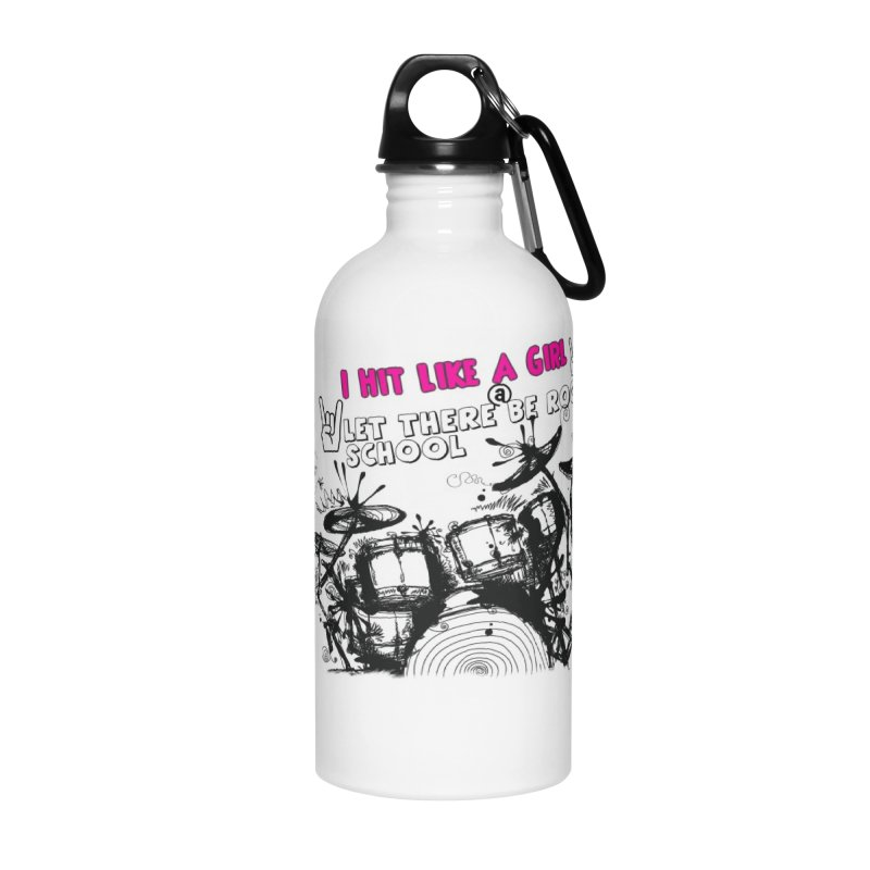 Girl Drummers ROCK! Accessories Water Bottle by LetThereBeRock's Artist Shop
