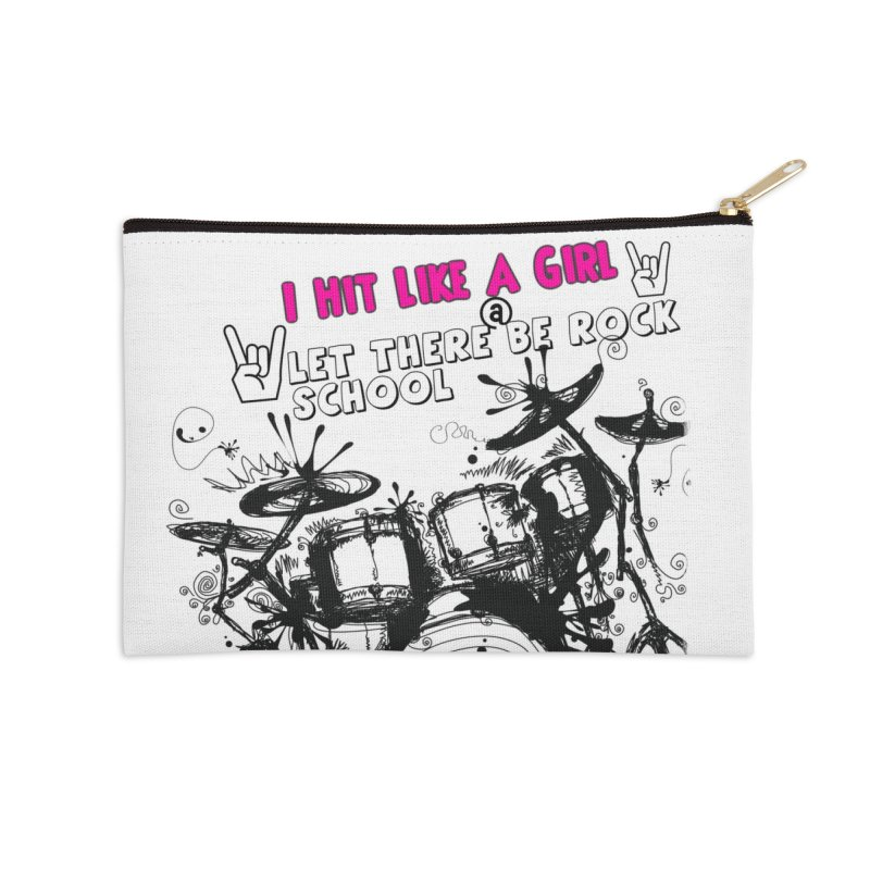 Girl Drummers ROCK! Accessories Zip Pouch by LetThereBeRock's Artist Shop