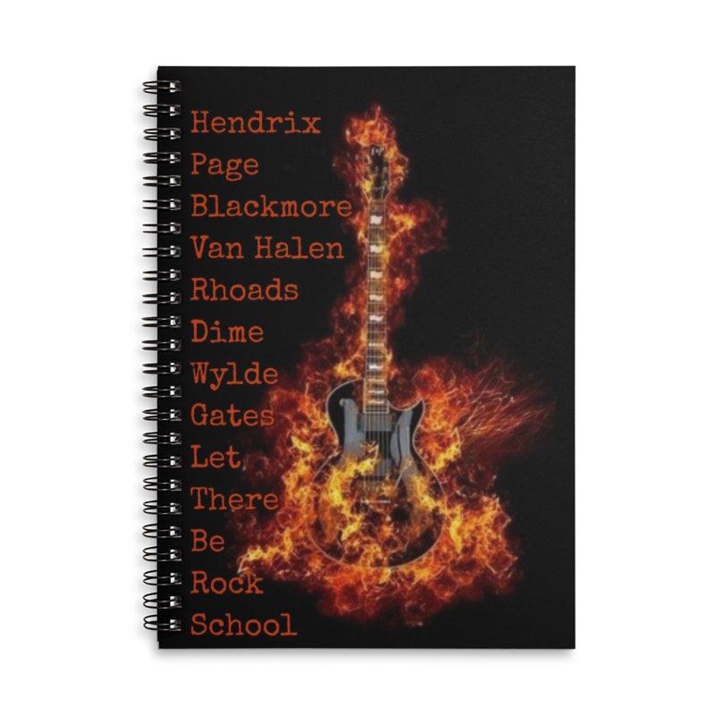Guitar Godz Accessories Lined Spiral Notebook by LetThereBeRock's Artist Shop