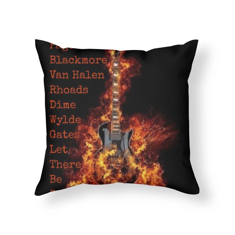 Guitar Godz Home Throw Pillow by LetThereBeRock's Artist Shop