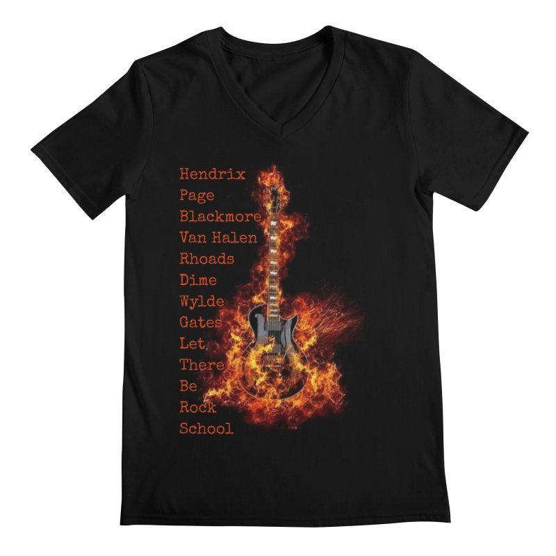 Guitar Godz Men's Regular V-Neck by LetThereBeRock's Artist Shop
