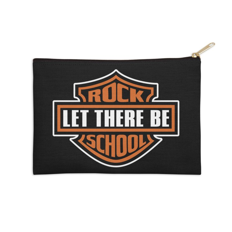 Harley inspired Rock School Logo Accessories Zip Pouch by LetThereBeRock's Artist Shop