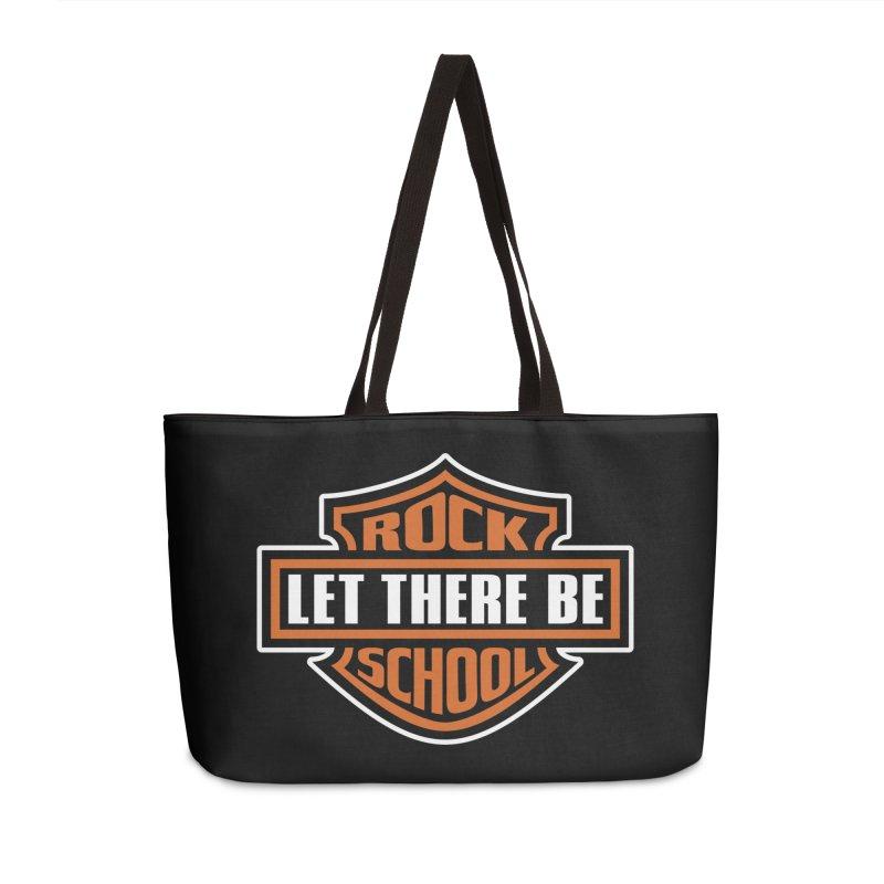 Harley inspired Rock School Logo Accessories Weekender Bag Bag by LetThereBeRock's Artist Shop