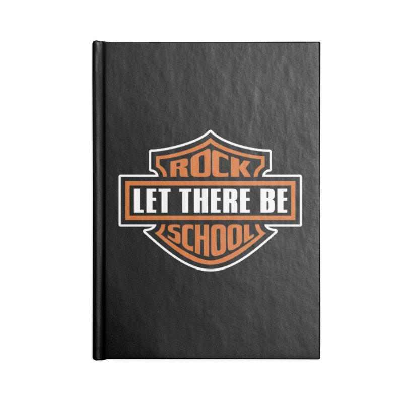 Harley inspired Rock School Logo Accessories Lined Journal Notebook by LetThereBeRock's Artist Shop