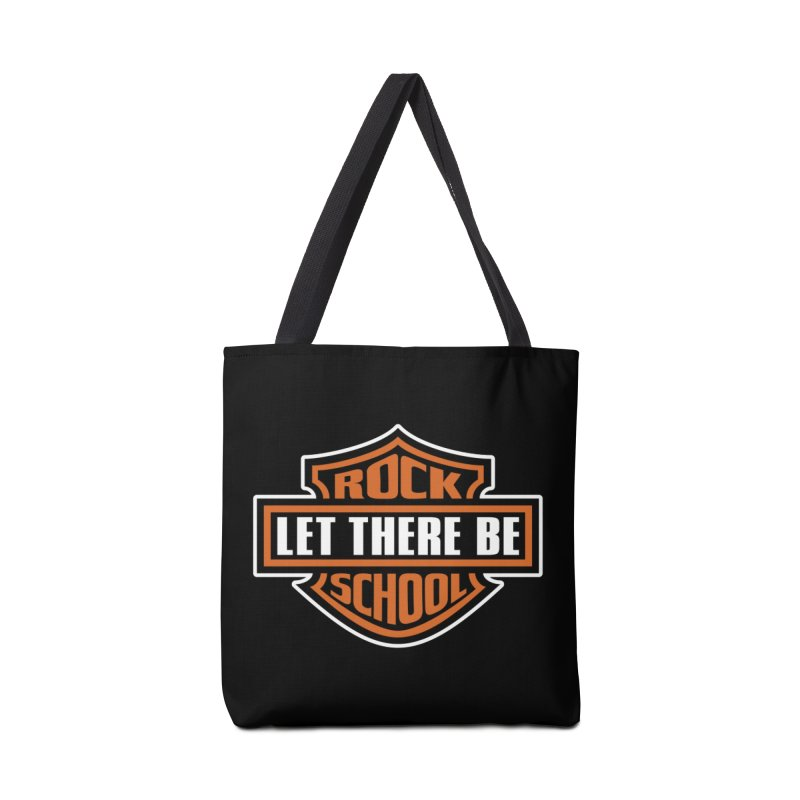 Harley inspired Rock School Logo Accessories Tote Bag Bag by LetThereBeRock's Artist Shop