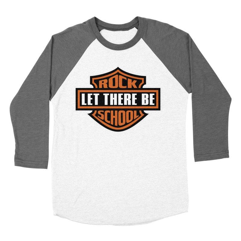Harley inspired Rock School Logo Men's Baseball Triblend Longsleeve T-Shirt by LetThereBeRock's Artist Shop