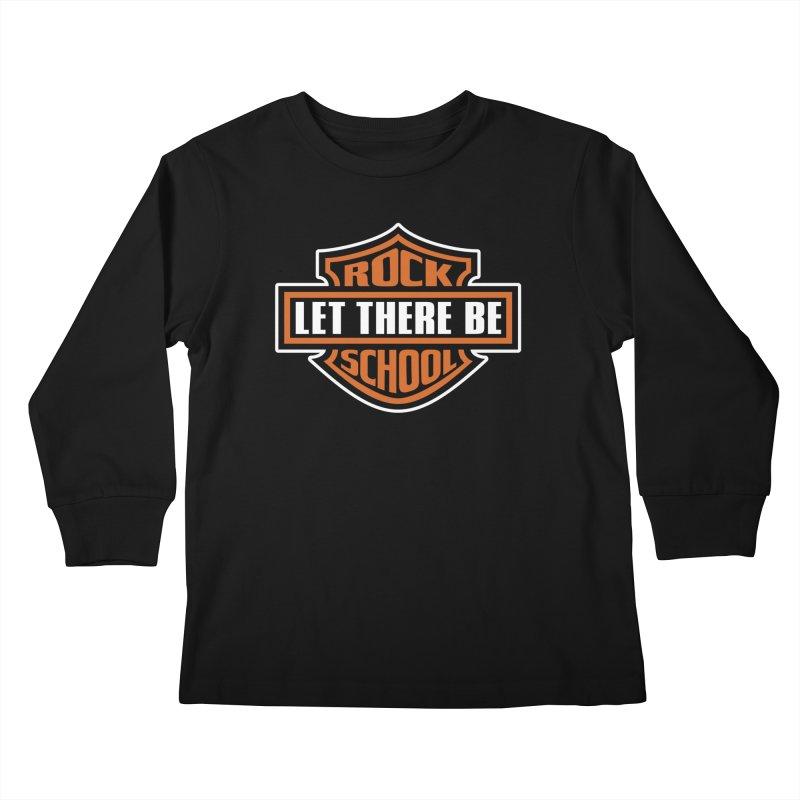 Harley inspired Rock School Logo Kids Longsleeve T-Shirt by LetThereBeRock's Artist Shop