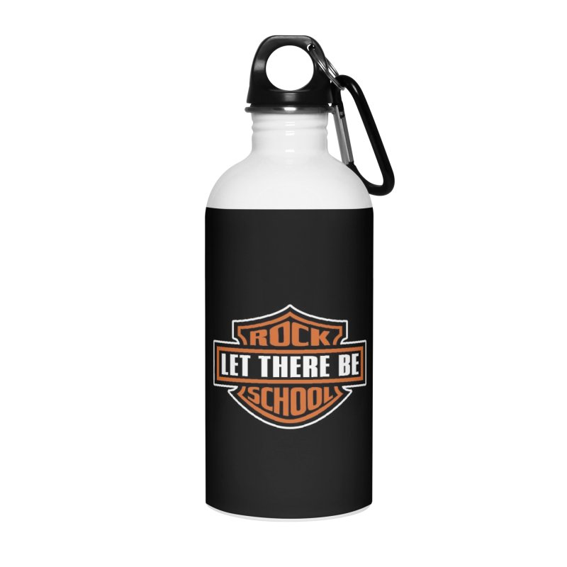 Harley inspired Rock School Logo Accessories Water Bottle by LetThereBeRock's Artist Shop