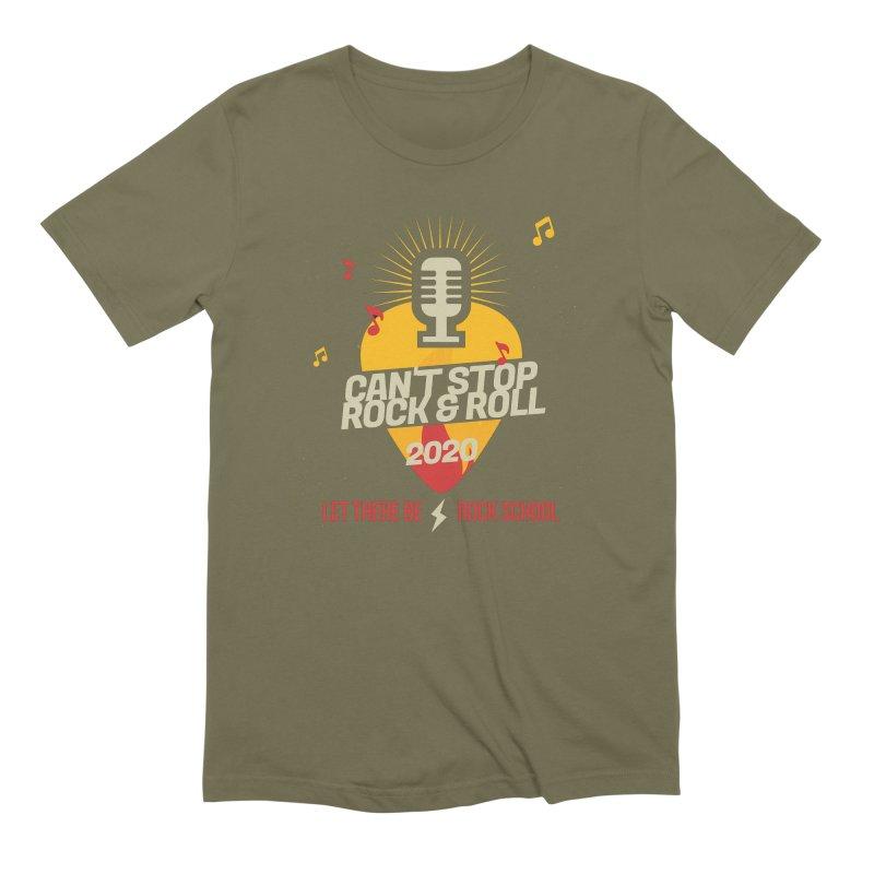 Cant Stop Rock & Roll Men's T-Shirt by LetThereBeRock's Artist Shop