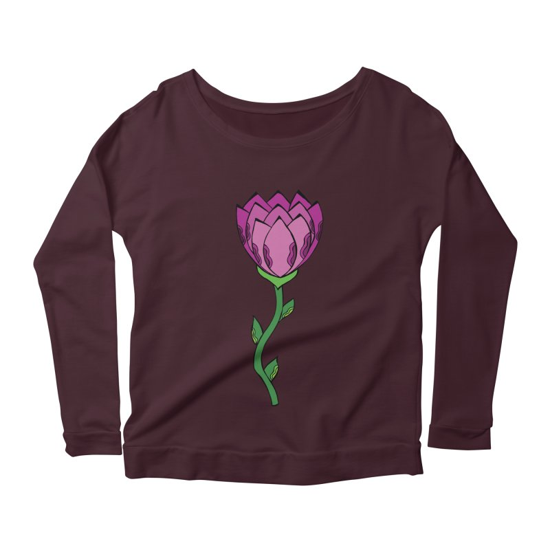 Bloomin' Women's Longsleeve Scoopneck  by Levitation