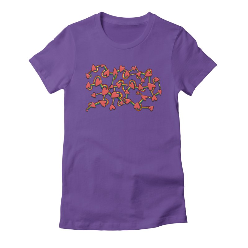 So Much Love Women's Fitted T-Shirt by Levitation