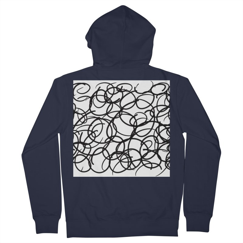 Circular Men's French Terry Zip-Up Hoody by Lidflutters