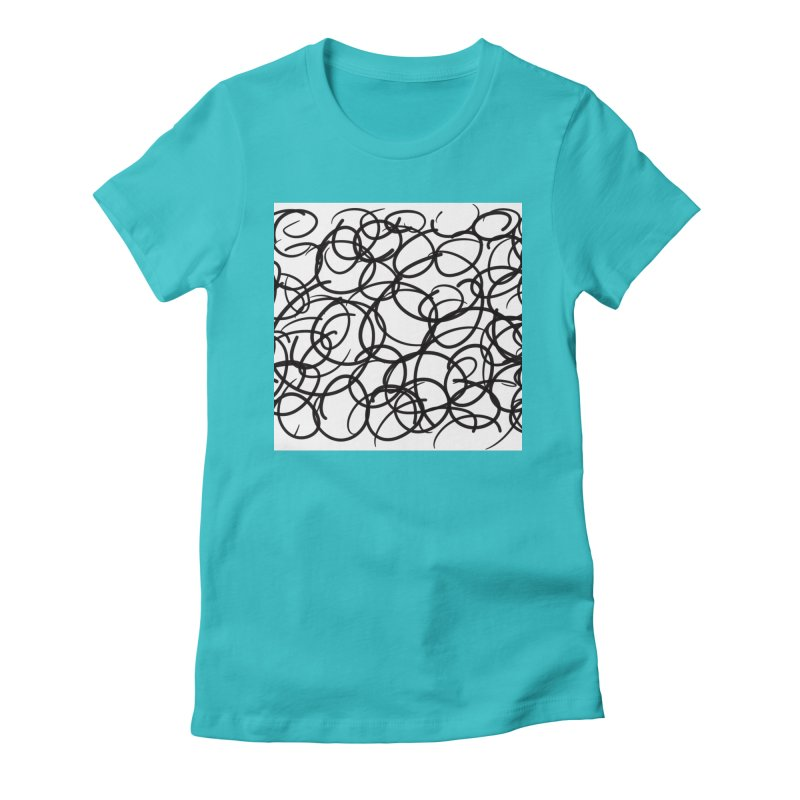 Circular Women's Fitted T-Shirt by Lidflutters