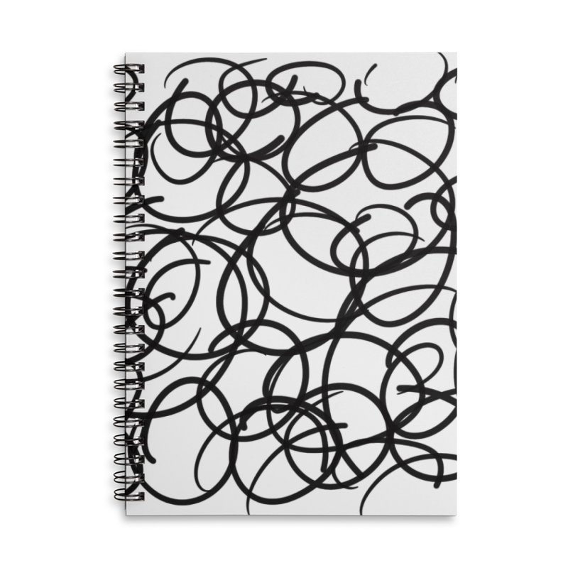 Circular Accessories Lined Spiral Notebook by Lidflutters