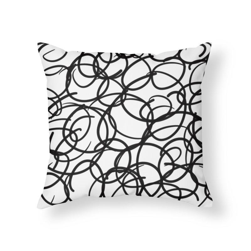 Circular Home Throw Pillow by Lidflutters