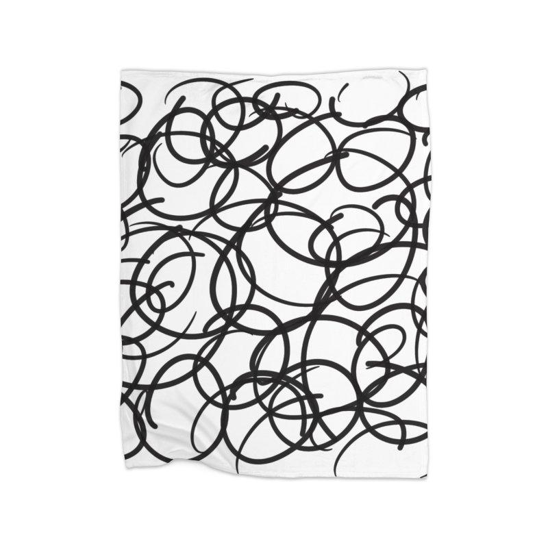 Circular Home Fleece Blanket Blanket by Lidflutters