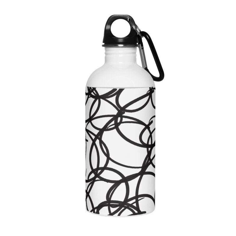 Circular Accessories Water Bottle by Lidflutters