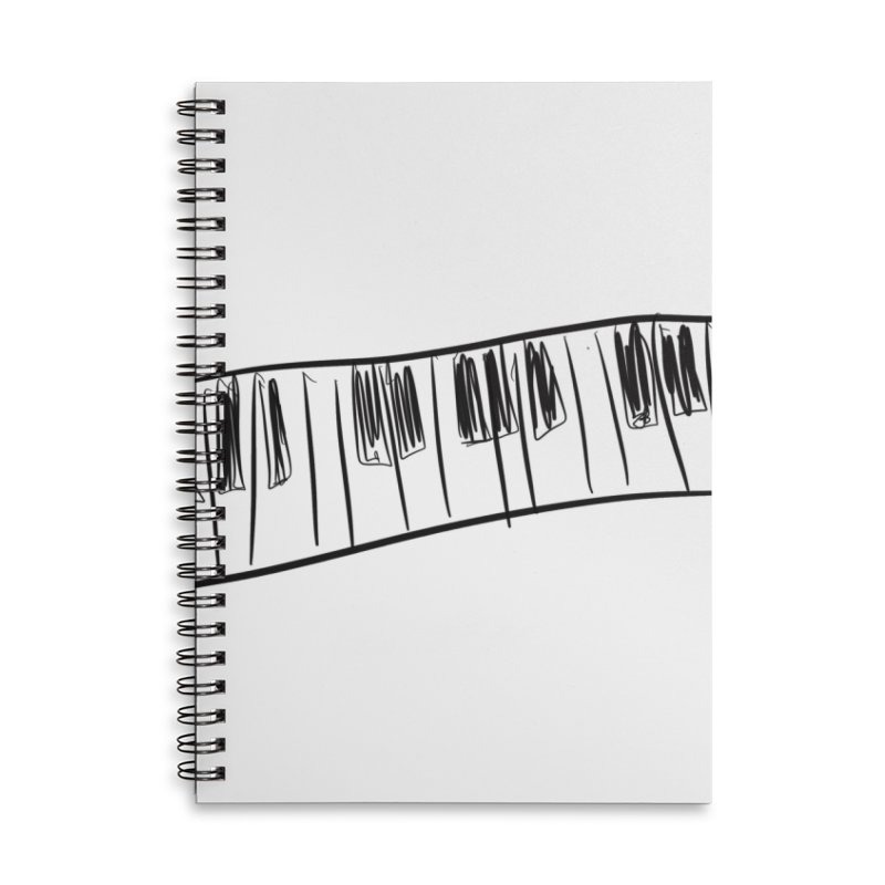 Tickle the ivory's Accessories Lined Spiral Notebook by Lidflutters