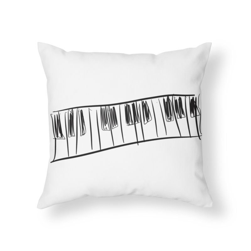 Tickle the ivory's Home Throw Pillow by Lidflutters