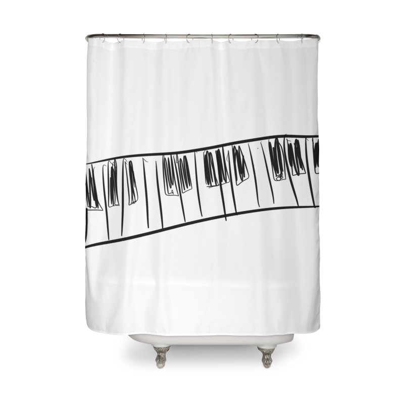 Tickle the ivory's Home Shower Curtain by Lidflutters