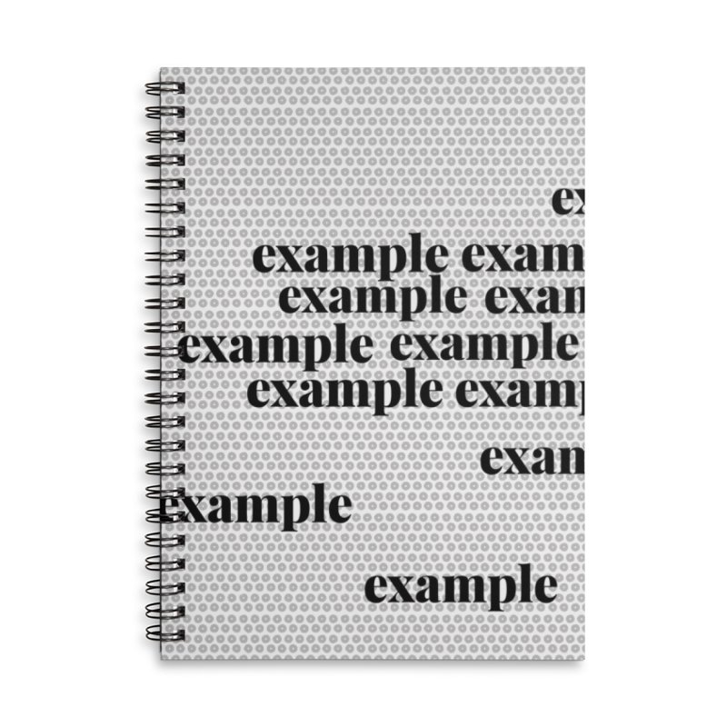 Example Accessories Lined Spiral Notebook by Lidflutters
