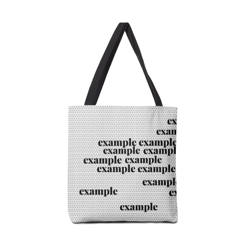 Example Accessories Tote Bag Bag by Lidflutters