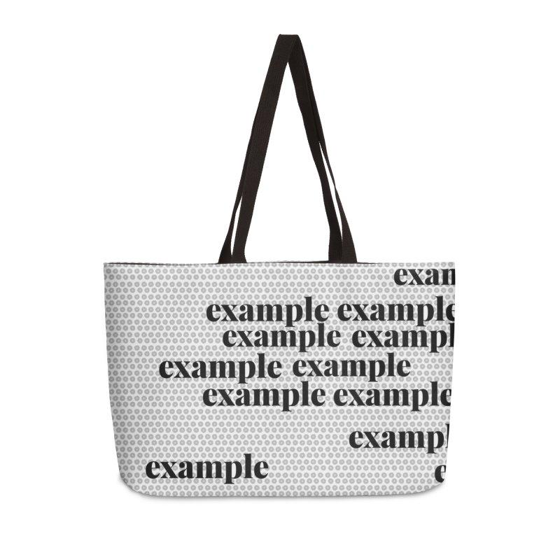 Example Accessories Weekender Bag Bag by Lidflutters