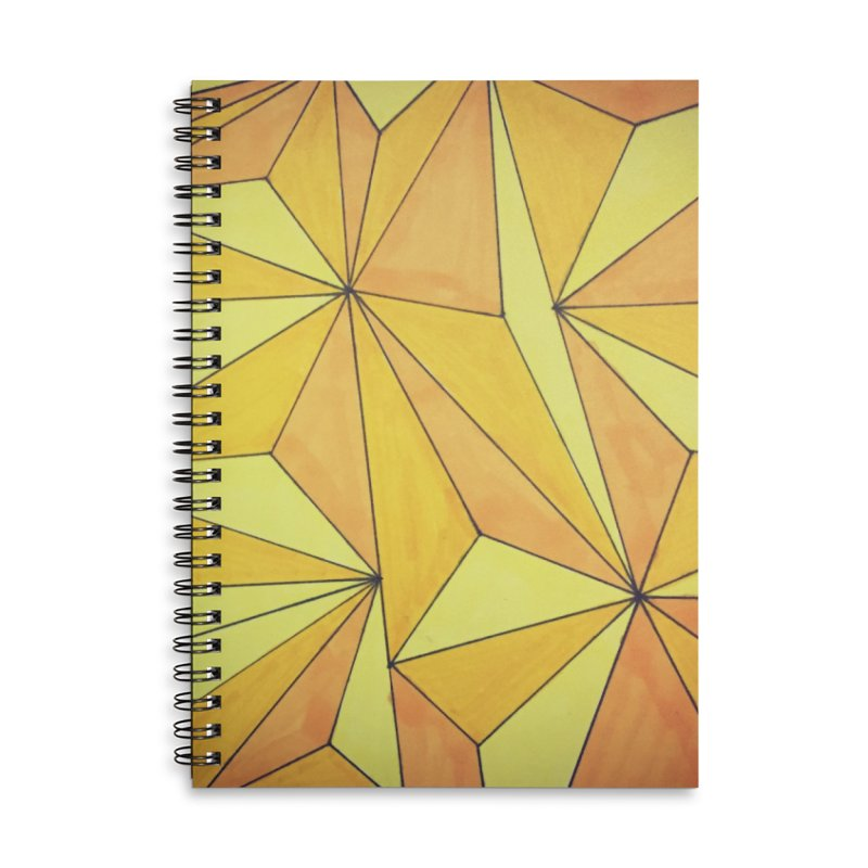Golden prism Accessories Lined Spiral Notebook by Lidflutters