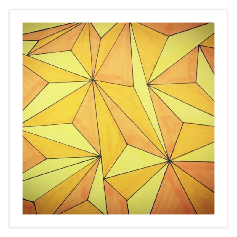 Golden prism Home Fine Art Print by Lidflutters
