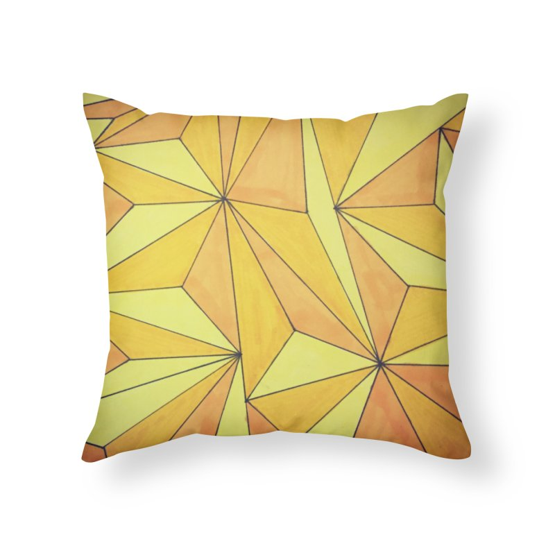 Golden prism Home Throw Pillow by Lidflutters