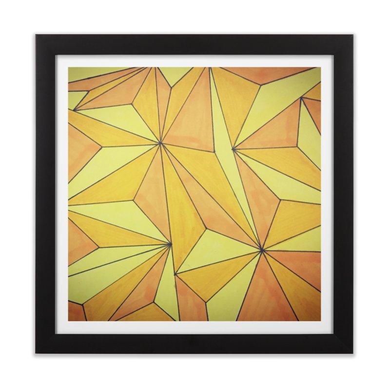 Golden prism Home Framed Fine Art Print by Lidflutters