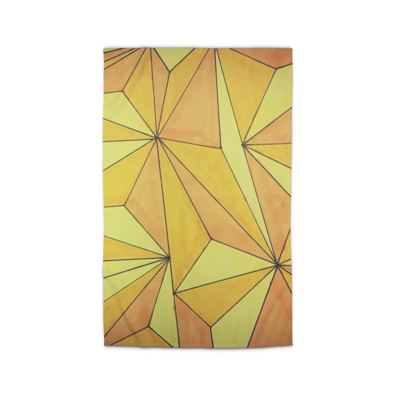 Golden prism Home Rug by Lidflutters