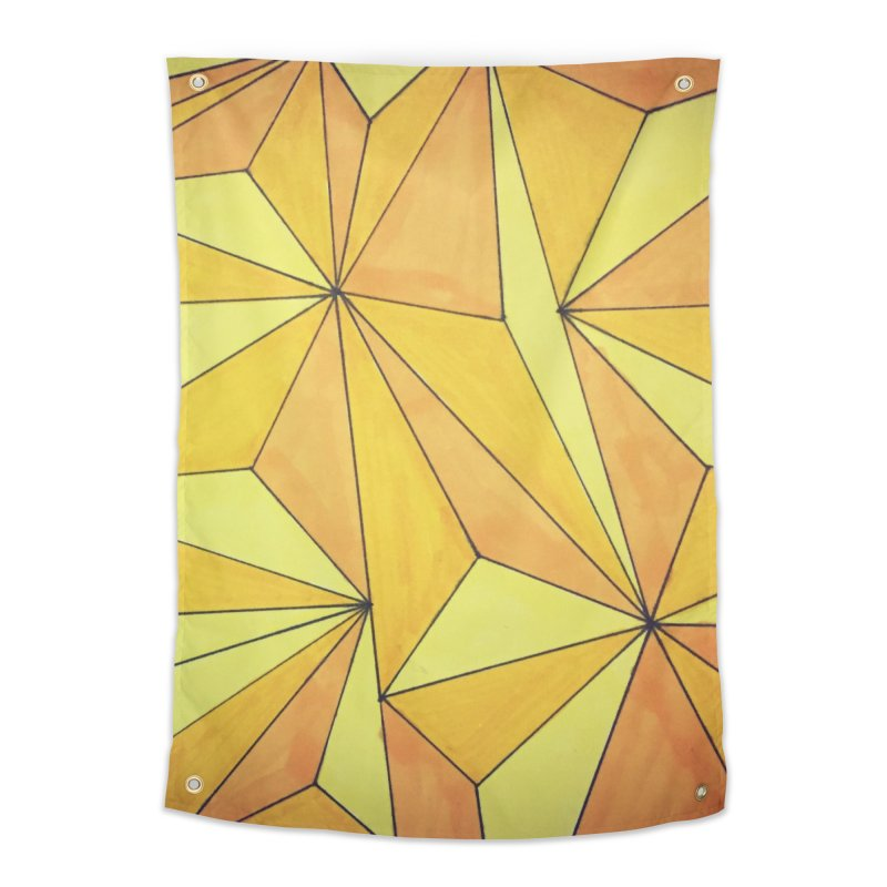 Golden prism Home Tapestry by Lidflutters