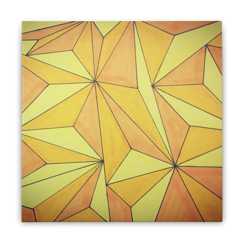 Golden prism Home Stretched Canvas by Lidflutters
