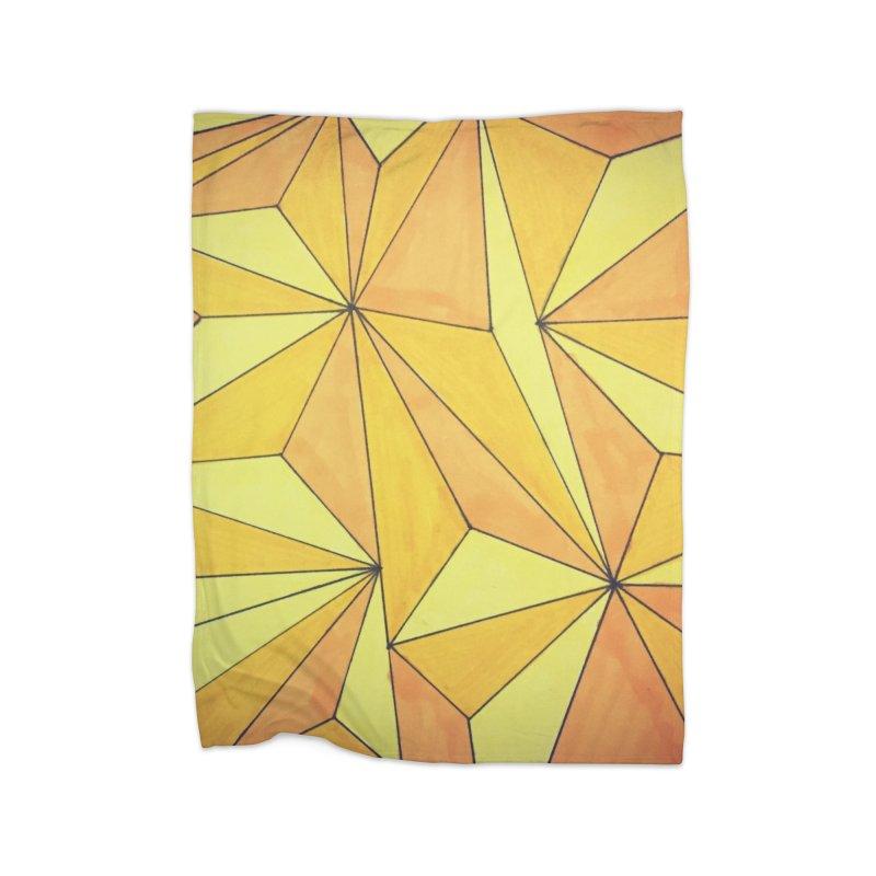 Golden prism Home Fleece Blanket Blanket by Lidflutters