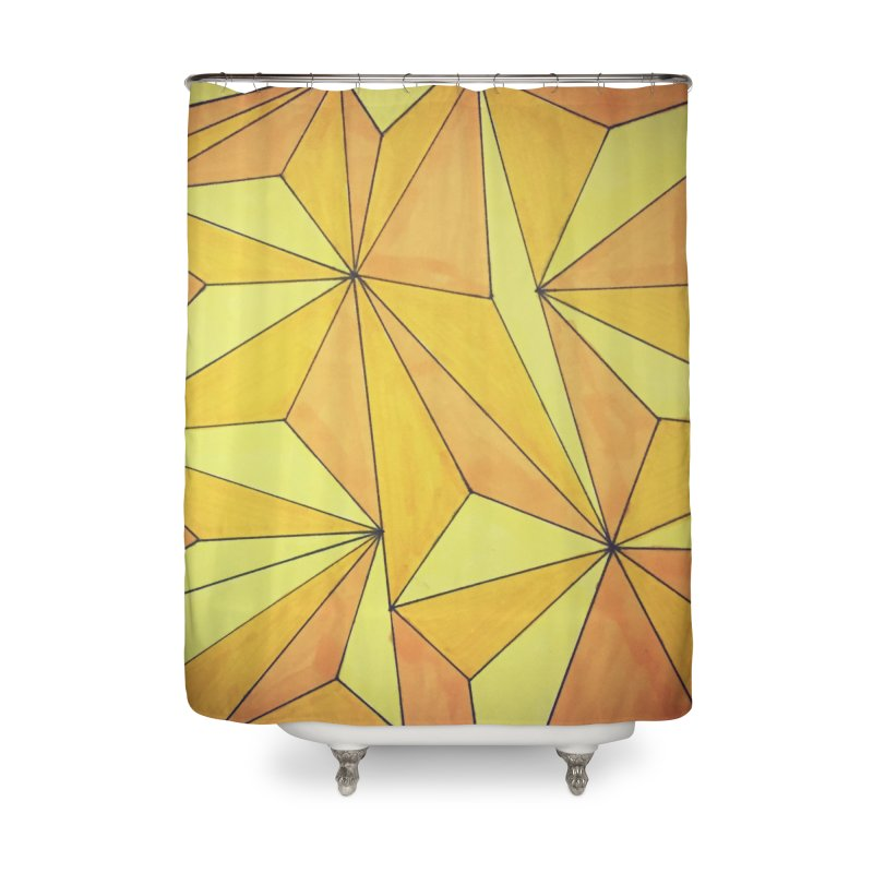 Golden prism Home Shower Curtain by Lidflutters