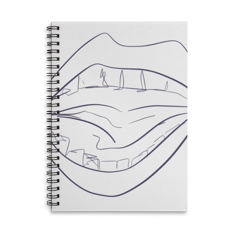 Open wide Accessories Lined Spiral Notebook by Lidflutters