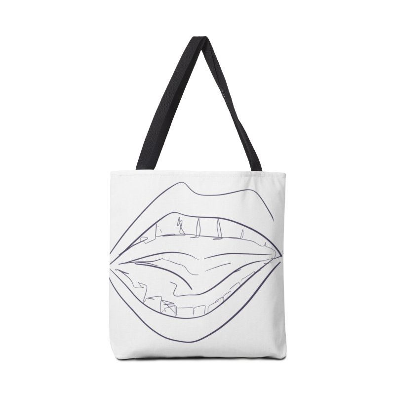 Open wide Accessories Tote Bag Bag by Lidflutters