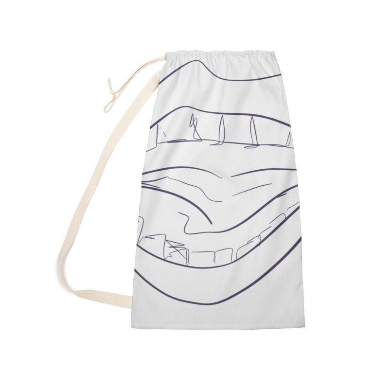 Open wide Accessories Laundry Bag Bag by Lidflutters