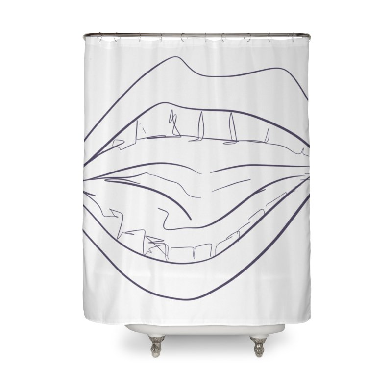 Open wide Home Shower Curtain by Lidflutters