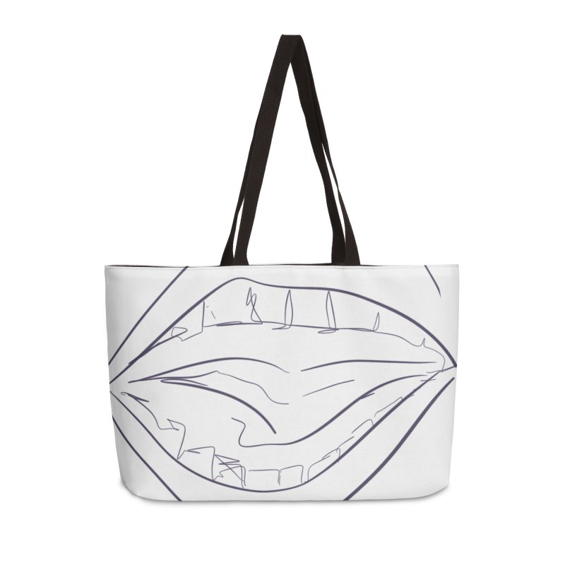 Open wide Accessories Weekender Bag Bag by Lidflutters