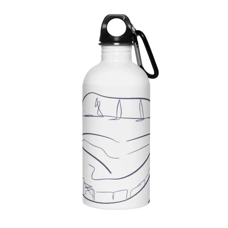 Open wide Accessories Water Bottle by Lidflutters