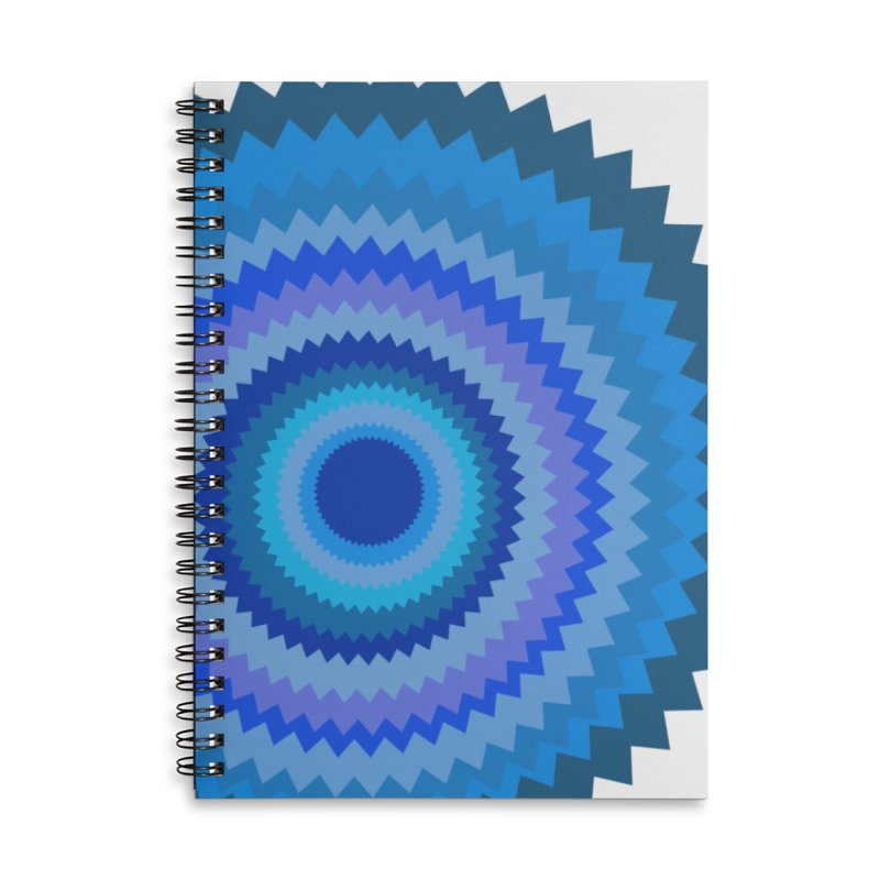 Blue devil Accessories Lined Spiral Notebook by Lidflutters