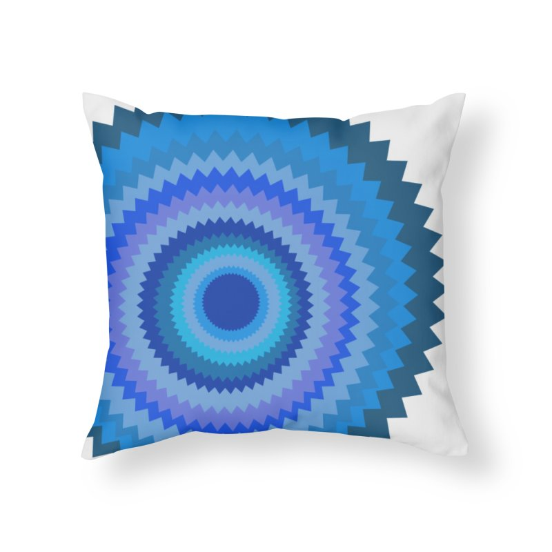 Blue devil Home Throw Pillow by Lidflutters