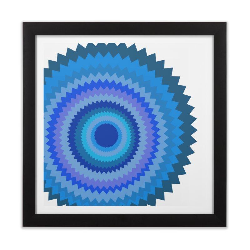 Blue devil Home Framed Fine Art Print by Lidflutters
