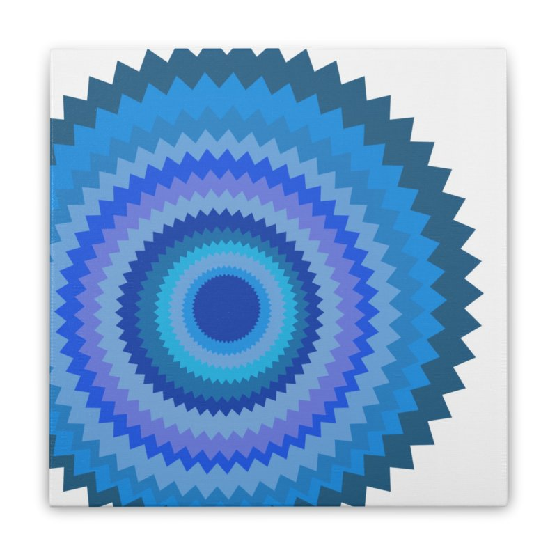 Blue devil Home Stretched Canvas by Lidflutters