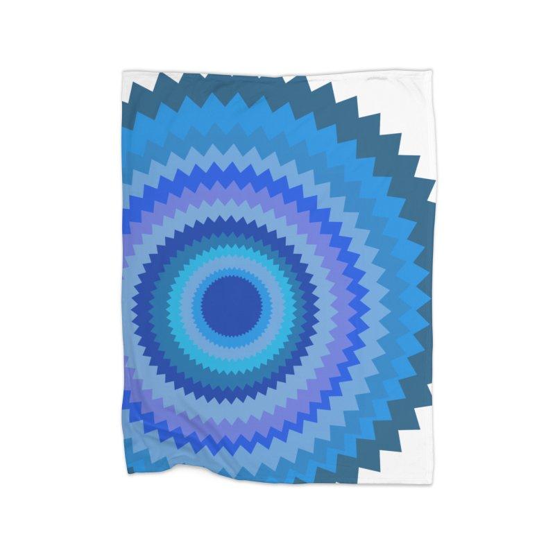 Blue devil Home Fleece Blanket Blanket by Lidflutters