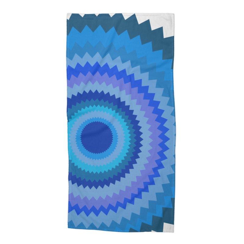 Blue devil Accessories Beach Towel by Lidflutters