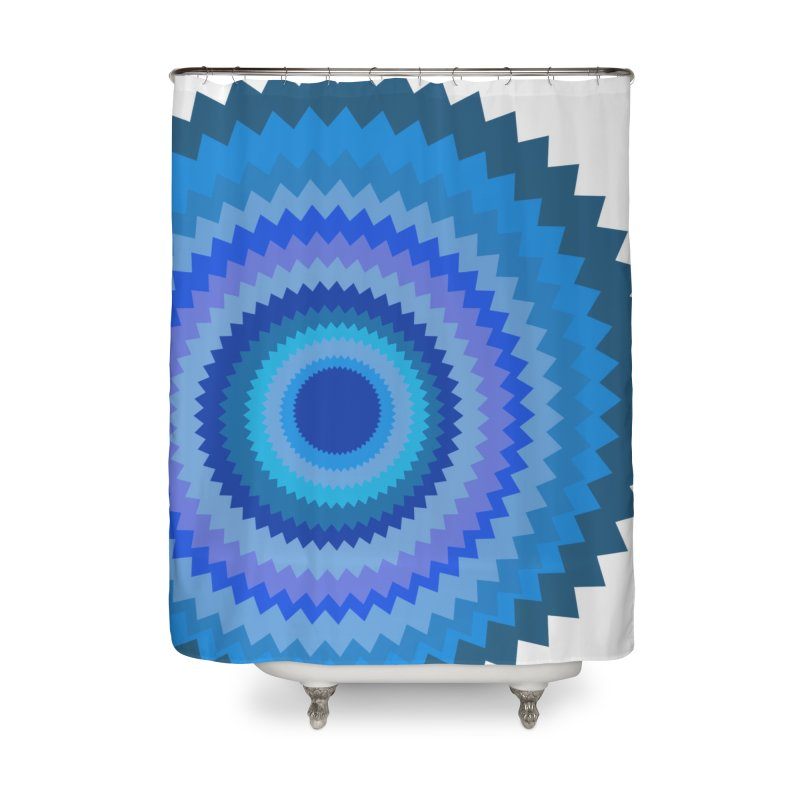 Blue devil Home Shower Curtain by Lidflutters